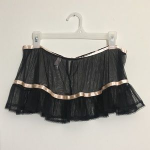 Victoria's Secret Sheer Lingerie Skirt